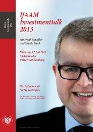 IfAAM Investmenttalk 2013 - Institut für Austrian Asset Management