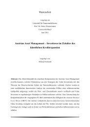 Investieren im Zeitalter der künstlichen Kreditexpansion - Institut für ...