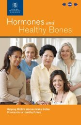 Hormones and Healthy Bones - National Osteoporosis Foundation