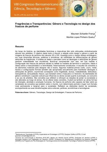 Gênero e Tecnologia no design dos frascos de perfume - UTFPR