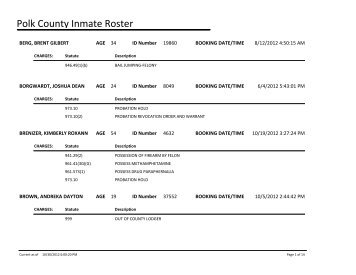 Current Inmate Listing - Mclennan County
