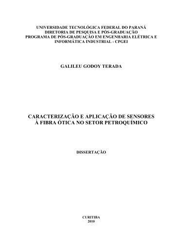 caracterização e aplicação de sensores à fibra ótica no ... - UTFPR