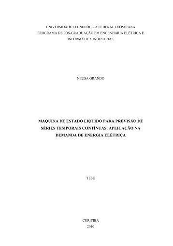 Máquina de Estado Líquido para Previsão de Séries ... - UTFPR