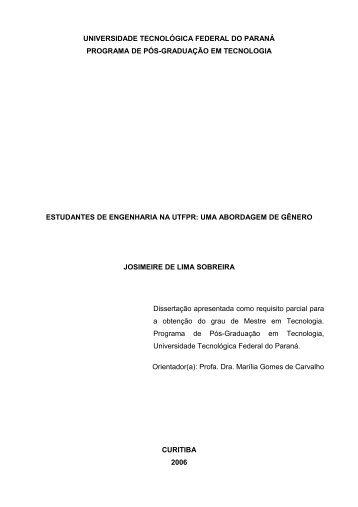 A identidade feminina - UTFPR