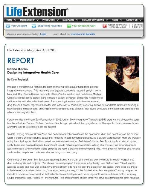 Dona Karan Designing Integrative Health Care Alex Stark