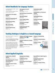 Oxford Handbooks for Language Teachers Teaching ... - 敦煌書局