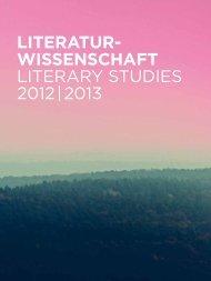 Literatur- wissenschaft Literary StudieS 2012 ... - Walter de Gruyter
