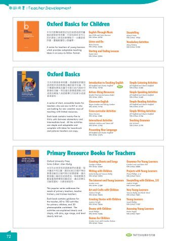 Primary Resource Books for Teachers Oxford Basics for ... - 敦煌書局
