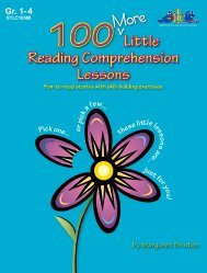 100 Little Reading Comprehension Lessons 100 Little Reading ...