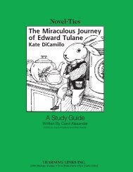 Novel•Ties A Study Guide The Miraculous Journey of Edward Tulane