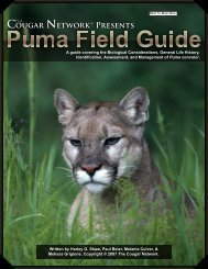 puma field guide - The Cougar Network