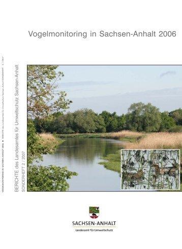 Vogelmonitoring in Sachsen-Anhalt 2006 - Dachverband Deutscher ...