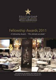 Fellowship Awards 2011 - Fellowship for British Hairdressing