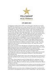 AWARDS 2011 - Fellowship for British Hairdressing