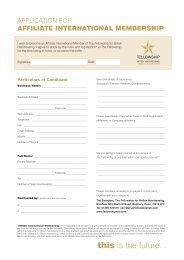 Download an affiliate international membership form - Fellowship for ...