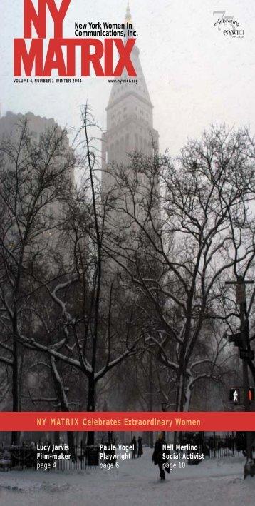 Winter 2004 - New York Women in Communications, Inc.