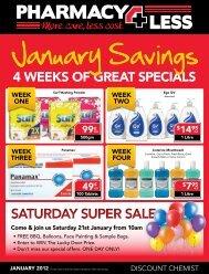 SATURDAY SUPER SALE - Pharmacy 4 Less