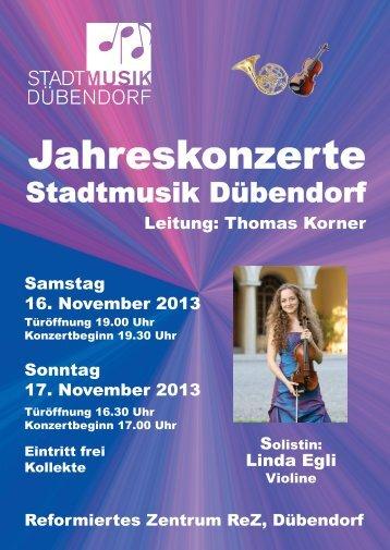 Jahreskonzerte - Stadtmusik Dübendorf