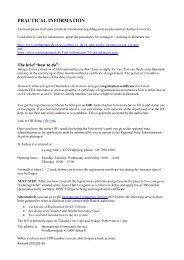 PRACTICAL INFORMATION - International Academic Staff