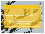 SKAT Powerpoint master - Aarhus Universitet