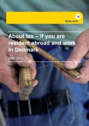 About tax – if You Are Resident abroad And Work In Denmark - Skat