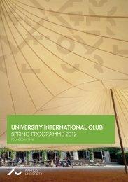 spring programme 2012 - International Academic Staff