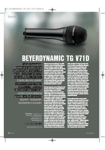 Recenze TG V71D z časopisu Music-Store 1-2012