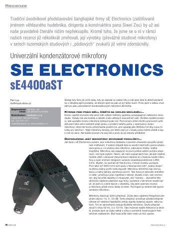 Recenze sE4400A v češtině (MusicStore) - Audiopro sro