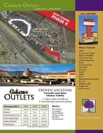 NOW LEASING -PHASE II - Craig Realty Group