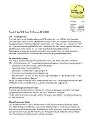 Protokoll des VHS-Team-Treffens am 20.10.2008 U15 - Stadtbegehung ...