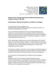 Regionale Perspektiven und Wohnen (PDF) - Stadtplanungsforum ...