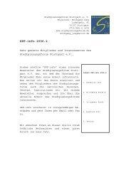 SPF-info 2006.2 (PDF) - Stadtplanungsforum Stuttgart