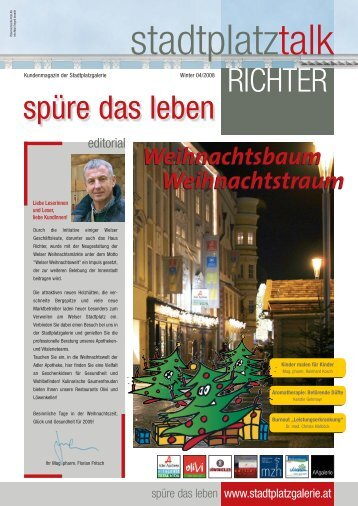 Zeitung Winter 08 - Stadtplatzgalerie Richter