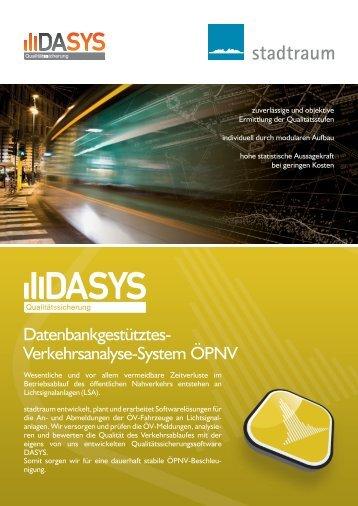 Datenbankgestütztes- Verkehrsanalyse-System ÖPNV - stadtraum