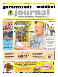 Gartenstadt Waldhof Journal 10/2011 - Bürgerverein Gartenstadt