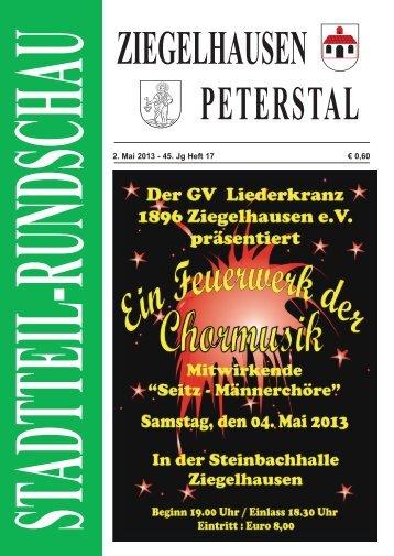 Stadtteil-Rundschau 2. Mai 2013 - 45. Jg Heft 17 PDF