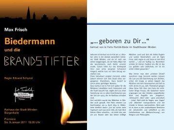 """… geboren zu Dir …"" - Stadttheater Minden"