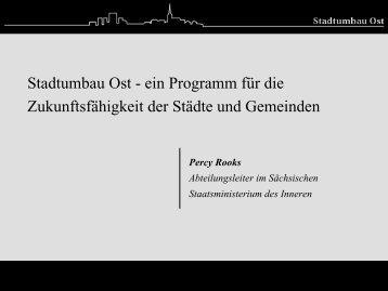 Download Präsentation - Bundestransferstelle Stadtumbau Ost
