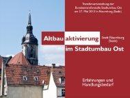 Folie 1 - Bundestransferstelle Stadtumbau Ost
