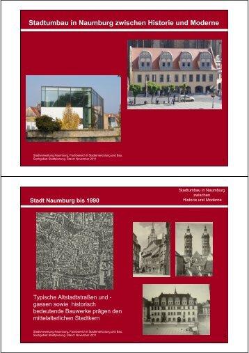 Stadtumbau in Naumburg zwischen Historie und Moderne