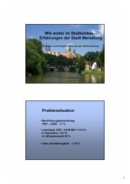 Wie weiter im Stadtumbau - Stadtumbau Sachsen-Anhalt