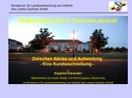Stadtumbau-Ost in Sachsen-Anhalt Zwischen Abriss und Aufwertung