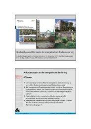Stadtumbau und Konzepte der energetischen Stadterneuerung