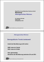 Altersgerechtes Wohnen - Stadtumbau Sachsen-Anhalt
