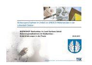 Sicherungsmaßnahmen im Umfeld von UNESCO-Welterbestätten in ...