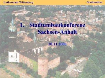 Lutherstadt Wittenberg - Stadtumbau Sachsen-Anhalt