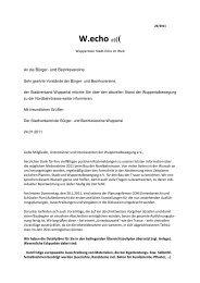 Bericht Wuppertalbewegung über Nordbahntrasse - Stadtverband ...