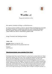 Prof. Dr. Lambert Koch - Stadtverband der Bürger