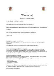 W.echo ((((( - Stadtverband der Bürger