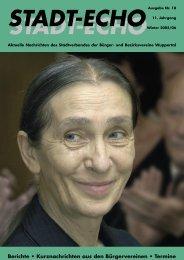 Ausgabe 18 Winter 2005/2006 - Stadtverband der Bürger
